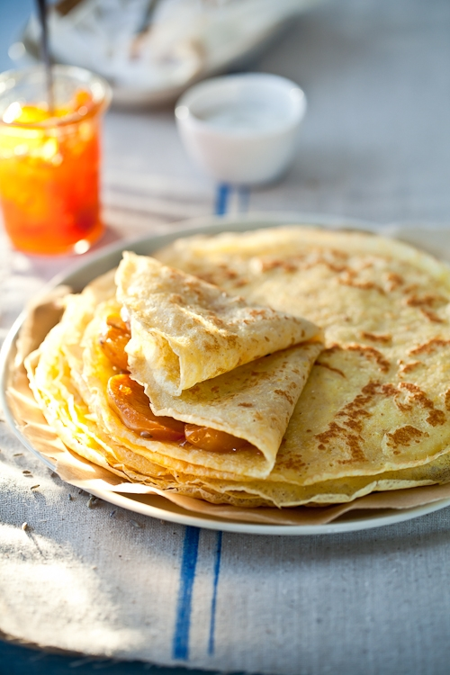Gluten Free Crepes & Roasted Persimmons