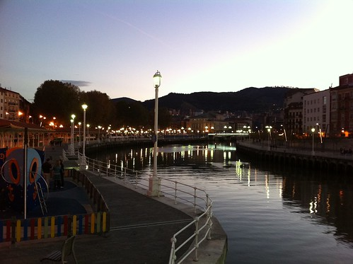 Bilbao River at Twilight 1