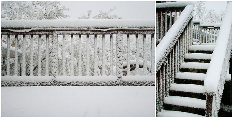 The Deck with Snow