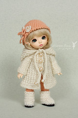 Set for PukiFee (Maram Banu) Tags: doll handmade clothes tiny bonnie bjd knitted crocheted fairyland outfits fairystyle pukifee marambanu