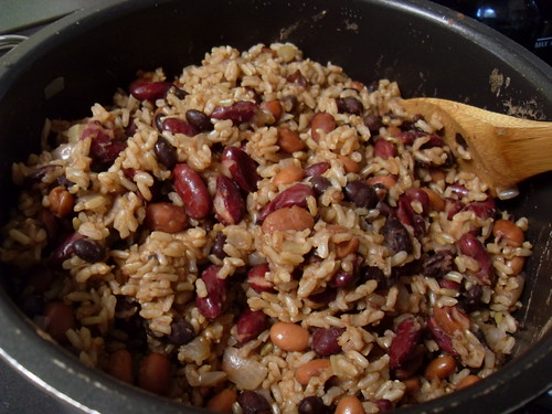 Rice and Bean Burrito Filling