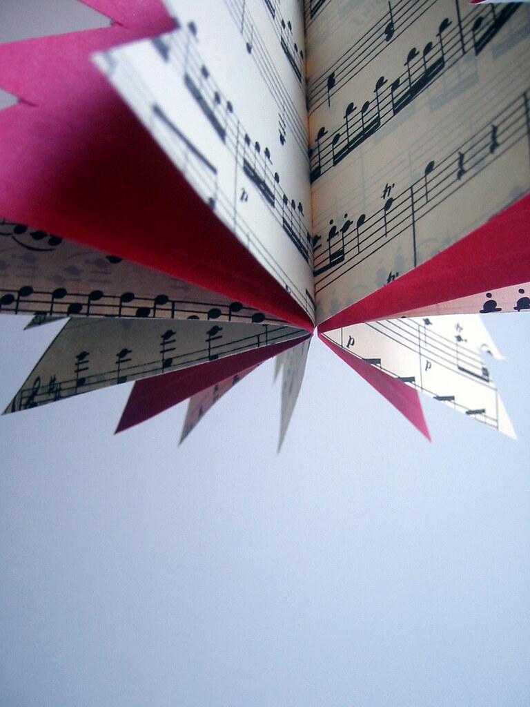 sheet music paper tree