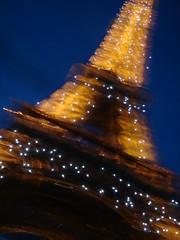 Eiffel (danielissimo) Tags: blur yellow lights movement slide eiffel giallo luci parigi mosso swipe