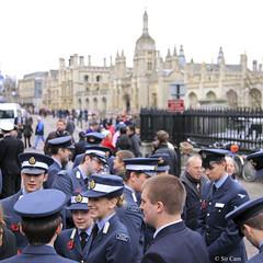 Remembrance Sunday in Cambridge (Sir Cam) Tags: cambridge university poppy kingscollege raf 2010 remembrancesunday greatstmarys uas cuas sircam airsquadron cambridgeuniversityairsquadron