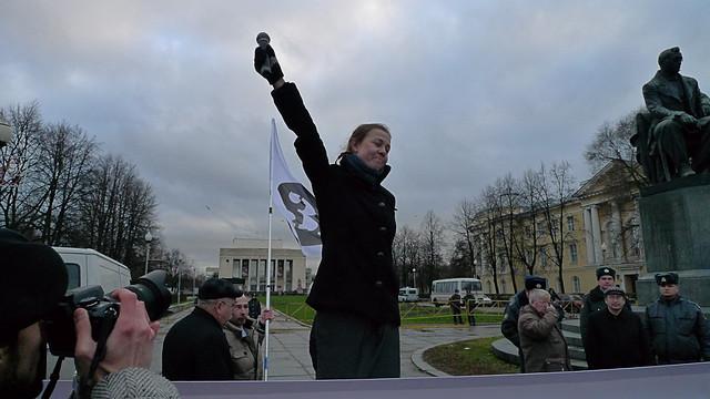 2010. 14 Ноября. Санкт-Петербург. Митинг против политических репрессий в стране