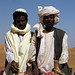 Camel men at the ancient Nubian pyramids at Meroe, Sudan