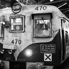 Train to Kurla from Mumbai. (ndnbrunei) Tags: travel blackandwhite bw india 120 6x6 tlr film rollei train mediumformat square kodak bn mf mumbai kodakbw400cn xenar rolleicord bw400cn analoguephotography rolleigallery ndnbrunei 50yearoldcamera ilovemyrolleicord