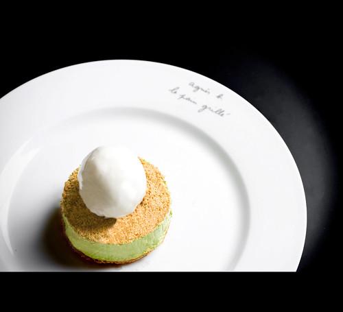 Cheesecake au thé vert matcha