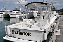 Predator fishing boat (pentlandpirate) Tags: blue sea coral relax islands sand paradise turquoise indianocean palm exotic granite tropical seychelles equator mahe ladigue seychellen seychelle