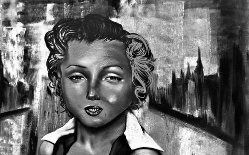 Marilyn Monroe - Street Art, Dublin Docklands
