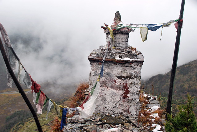 stupa in the Himalayas at 13,500ft, Sikkim