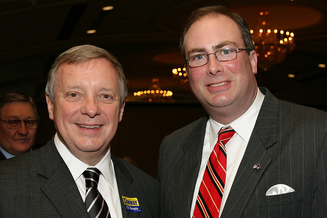 Senator Durbin & Jefferson County Chair Tim Longmeyer