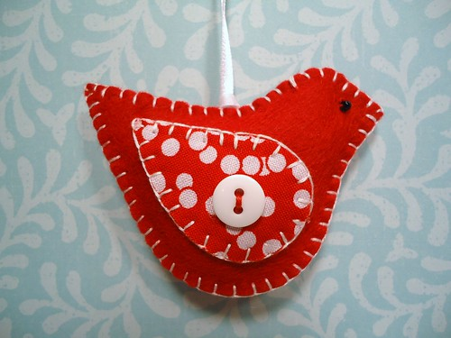 Cheerful Redbird Ornament