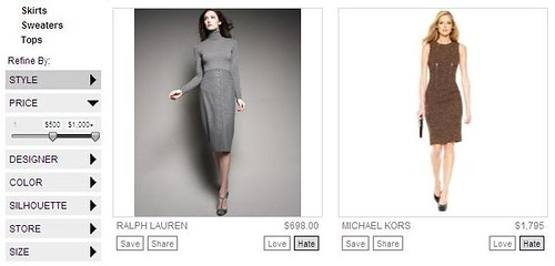 Boutiques Price Filter