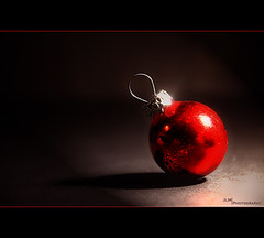 Xmas Decor Dark (JLM Photography.) Tags: christmas xmas red bauble flickrchallengegroup flickrchallengewinner jlmphotography
