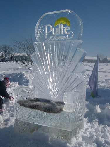 Ice Throne Pulte Homes ice sculpture