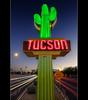 gateway saguaro (bugeyed_G) Tags: road blue arizona sign night canon vintage photography neon tucson miracle sigma hour gateway americana nik saguaro 1020mm hdr mile photomatix oldpueblo pimacounty dragondaggerphoto t1i thepinnaclehof kanchenjungachallengewinner thepinnacleblog northoracleroad tphofweek73