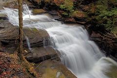 Side View - Lower Pinnacle Falls (+David+) Tags: sunlight waterfall drycreek walls sideview moraviany fillmoreglensp lowerpinaclefalls thathemlockbough