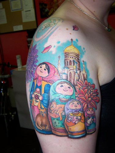 russian doll tattoo. russian doll tattoo