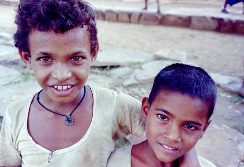 Street kids in India