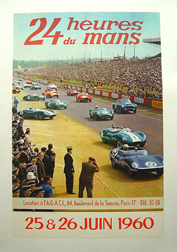 023-LeMans, 1960-© 2010 Vintage Auto Posters. All Rights Reserved