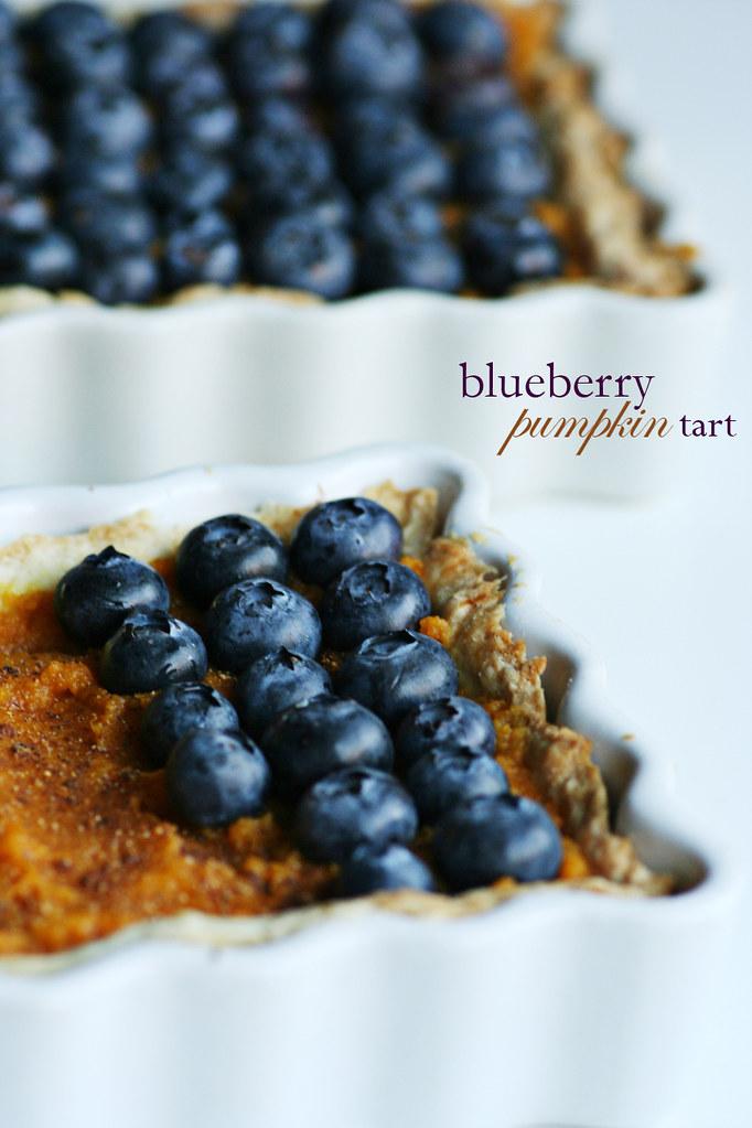 blueberrypumpkin tart