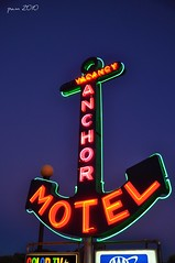 Anchoring (pam's pics-) Tags: hotel colorado neon lodging motel co neonlights neonsigns motorinn motorlodge anchormotel pammorris nightneon nikond5000 denverpam walsbenburg