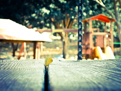 playground's midday silence