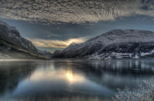 A beautiful winterday in Nordfjord