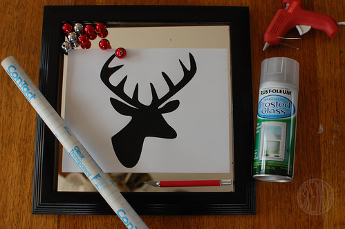 supplies needed to make Christmas wall hanging