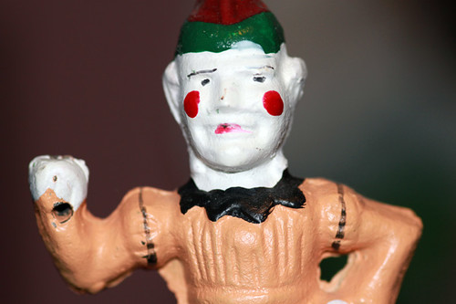 Cast Iron Clown Bank