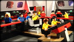 The bridge of the USS Enterprise NCC1701 (Legoagogo) Tags: startrek lego spock bones moc jamestkirk