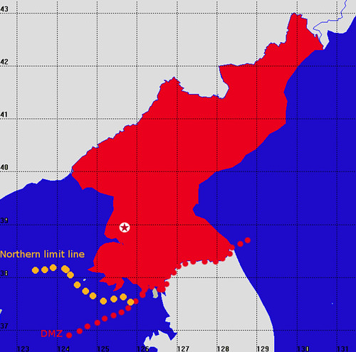 Map from North Korean Government website