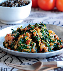Recipe of the week dobi zimbabwe new internationalist i was born in zimbabwe so this spinach and tomato dish reminds me of my childhood there dobi is traditionally served with sadza the maize meal staple forumfinder Gallery