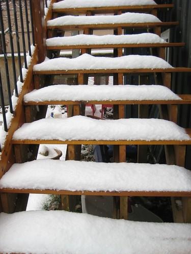 deck stairs nov.25, 2010