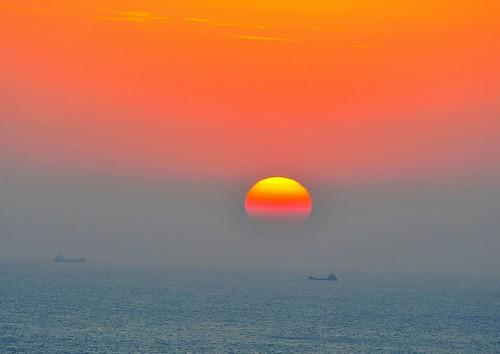 フリー写真素材, 自然・風景, 夕日・夕焼け・日没, 海,