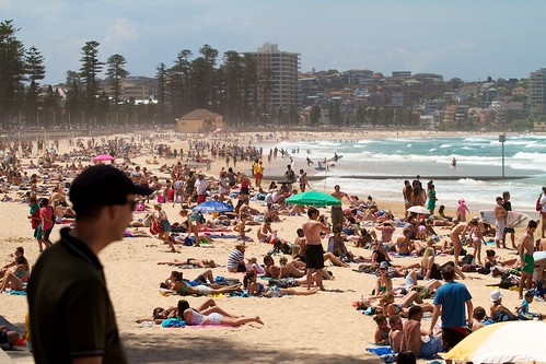 Hot Saturday afternoon at Manly Beach