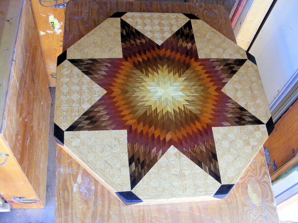 Medium Oak Star Table #4, view 1