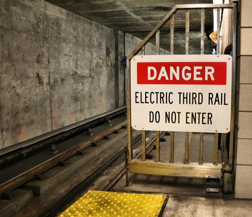 sf sign danger warning bart 3rdrail