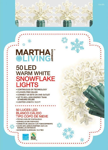 MARTHA STEWART SNOWFLAKE LIGHTS