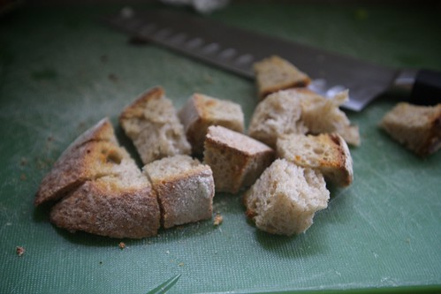 make shift croutons