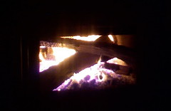 Hot, toasty fire