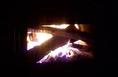 Hot, toasty fire