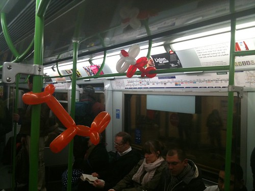 Balloon animals on the District Line by Liquid_City