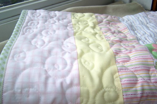 Quilting on the Buggy Baby Quilt