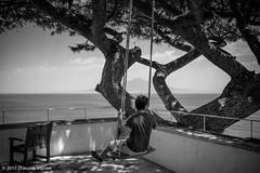 Contemplation (Theunis Viljoen LRPS) Tags: italy man naples sorrento swing vesuvius