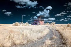 iconic Newburyport Pink House (Brian M Hale) Tags: plum island ma mass massachusetts ir infrared full color halespectrum brian hale brianhalephoto lifepixel old house pink newengland new england usa 720nm outside outdoors
