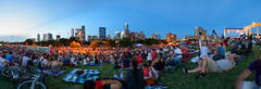 Before The Fireworks. (-Dons) Tags: austin panorama texas unitedstates townlake auditoriumshores longcenter crowd downtown skyline pano people sky