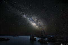 Milky way on Cala chicré (juanjoleal) Tags: via lactea milky way cabo gata nocturna estrellas stars night almeria chicre sea mar mediterraneo rocas rocks