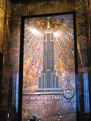 Visiting the Empire State Building 6 (catchesthelight) Tags: nyc newyork metal wall skyline architecture photography 1930s skyscrapers manhattan decorative interior details icon noflash ceiling esb rug empirestatebuilding empirestate artdeco inside marble elevators deco 5thave w34thst